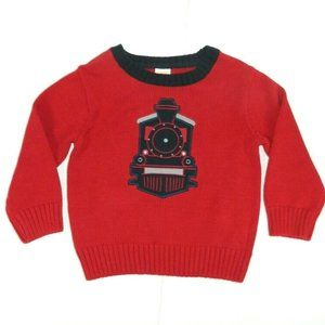 Gymboree Red Blue TRAIN Sweater Boys 18-24 months